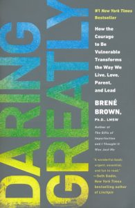 An image of the book cover for Brené Brown's Daring Greatly